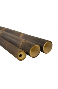 Natural black bamboo pole 60/80mm x 4 mtrs