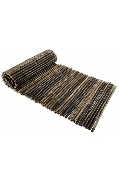 Natural black bamboo roll screen 25/28mm 1 mtr high x 2.5 mtr wide