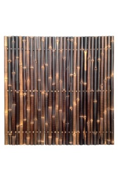 Natural black giant bamboo panel 1.8 mtr high x 1.8mtr mm wide
