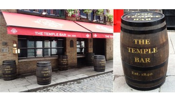 Oak barrel restoration and branding