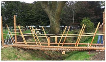 Bamboo wooden bridge