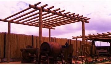 Installation of Pergola. Screening of existing walls